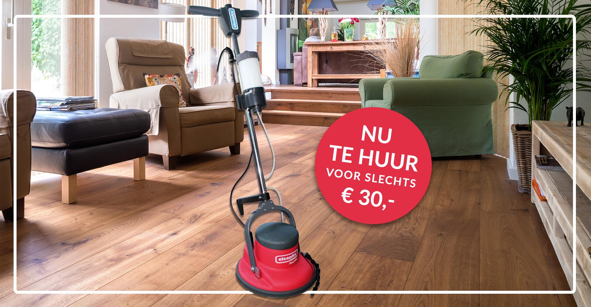 Je houten vloer weer als nieuw met de boenmachine van Het Parkethuis