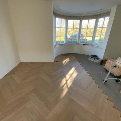 Visgraat vloer Bauwerk Quadrato Eiken B-Protect