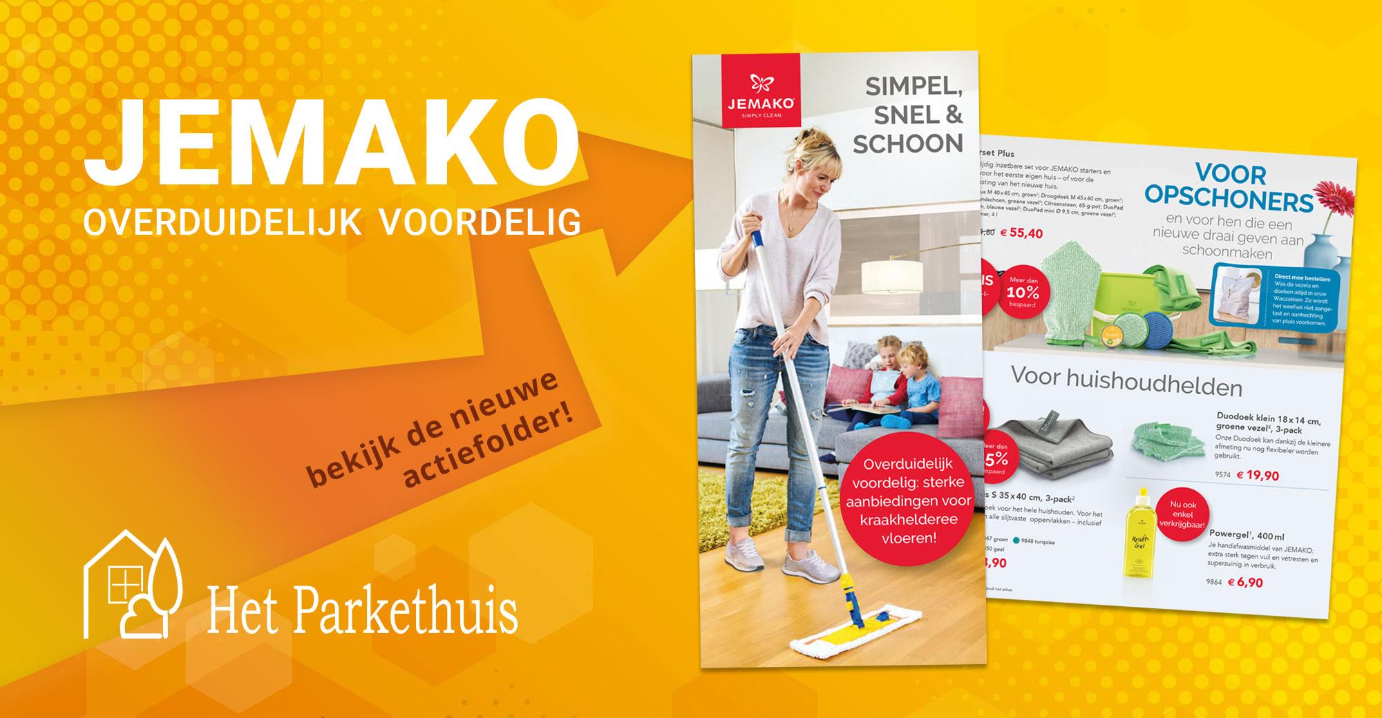 Mooie kortingen en gratis producten bij de nieuwe actie van JEMAKO: 'Simpel, snel & schoon'