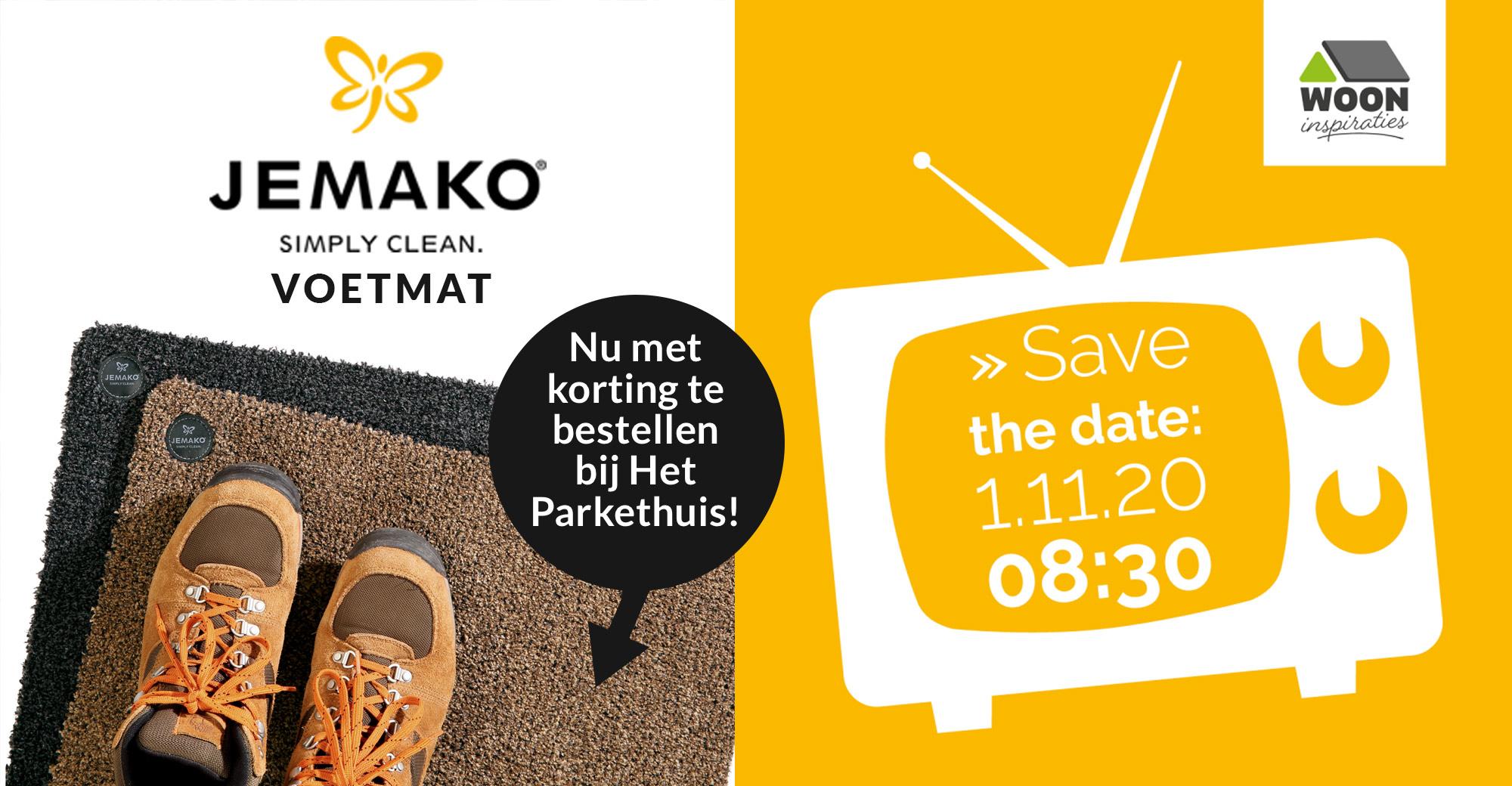 De voetmat van JEMAKO te zien bij het programma 'Wooninspiraties'